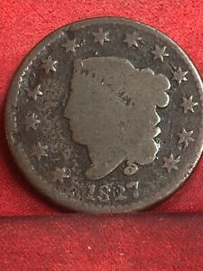 1827 CORONET LARGE CENT SEE THE PICTURES