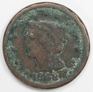 1848 LARGE CENT PENNY