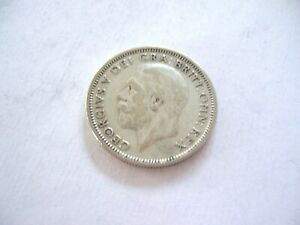 UNITED KINGDOM 1936 ONE SHILLING SILVER GEORGE V