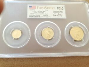Click now to see the BUY IT NOW Price! PCGS PF70 225TH ANNIVERSARY  FIRST DAY OF ISSUE DENVER 3 COIN GOLD SET