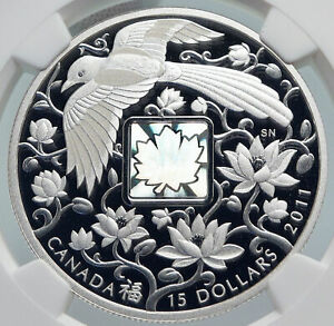 Click now to see the BUY IT NOW Price! 2011 CANADA UK ELIZABETH II MAGPIE HOLOGRAM SILVER $15 COIN SPECIMEN NGC I86008