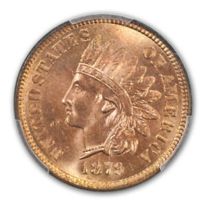Click now to see the BUY IT NOW Price! 1879 1C INDIAN CENT   TYPE 3 BRONZE PCGS MS66 RD