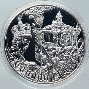 Click now to see the BUY IT NOW Price! 2002 CANADA BRITISH QUEEN ELIZABETH II 50TH CORONATION SILVER DOLLAR COIN I86242