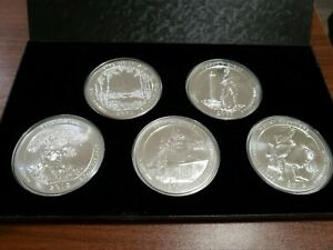 Click now to see the BUY IT NOW Price! COMPLETE SET 2013 ATB 5 OZ SILVER COINS. INCLUDES BOX LINER AND CAPSULES
