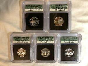 Click now to see the BUY IT NOW Price! 2000 S ICG PR70 DCAM STATE QUARTER 5 COIN SILVER PROOF SIGNATURE SET