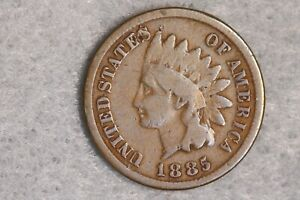 1885 1C INDIAN HEAD CENT PENNY EARLY US TYPE COIN