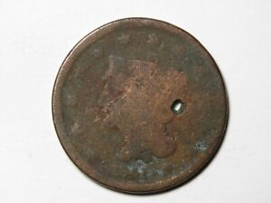 1841 LIBERTY BRAIDED HAIR LARGE CENT