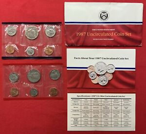 1987 P & D UNITED STATES MINT UNCIRCULATED COIN SET W/ENVELOPE