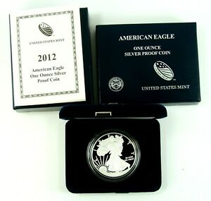 2012 W AMERICAN SILVER EAGLE PROOF ORIGINAL US MINT PACKAGING WITH COA