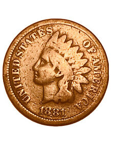 1881 INDIAN HEAD CENT/PENNY GOOD VG   3045