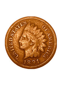 1891 P INDIAN HEAD CENT PENNY   VG   GOOD         3047