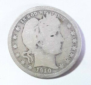 1910 BARBER QUARTER GOOD