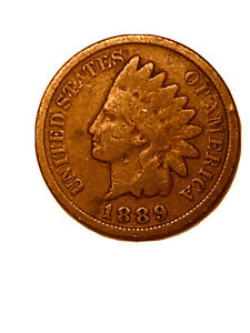 1889 INDIAN HEAD CENT PENNY VG   3067