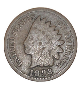 1892 INDIAN HEAD SMALL CENT VG COIN   3068