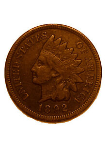 XF FULL LIBERTY 1892 INDIAN HEAD CENT PENNY   3069