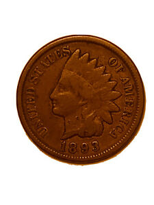 1893 P INDIAN HEAD CENT PENNY   F   FINE        3071