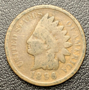 1896 P INDIAN HEAD CENT PENNY   VG   GOOD        3073