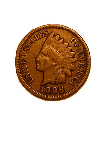 1898 P INDIAN HEAD CENT PENNY STOCK PHOTO AG OR BETTER      3076