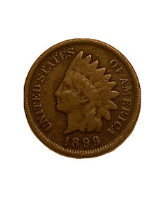 1899 INDIAN HEAD SMALL CENT VG COIN   3077