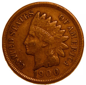 1900 P INDIAN HEAD CENT PENNY STOCK PHOTO AG OR BETTER   3078