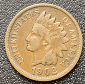 1902 P INDIAN HEAD CENT PENNY STOCK PHOTO  GOOD OR BETTER    3080