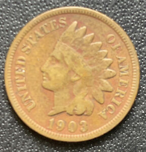 1903 P INDIAN HEAD CENT PENNY STOCK PHOTO  GOOD OR BETTER    3081
