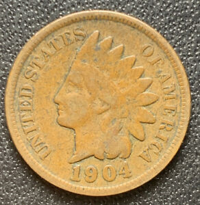 1904 P INDIAN HEAD CENT PENNY STOCK PHOTO  GOOD OR BETTER    3084