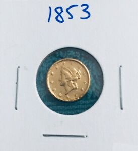 1853 LIBERTY HEAD TYPE $1.00 GOLD COIN