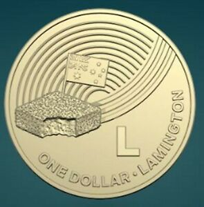 THE GREAT AUSSIE COIN HUNT GREAT PRESENT  L FOR LAMINGTON FOR FOLDER