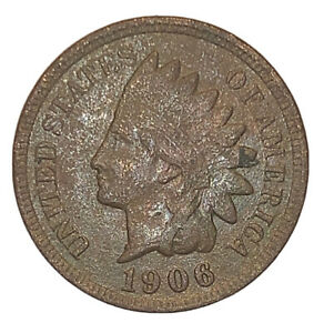 1906 INDIAN HEAD CENT XF DETAILS FULL LIBERTY   3090