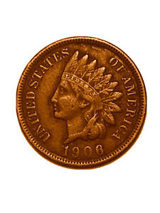 1906 P INDIAN HEAD CENT PENNY FULL LIBERTY VF FINE        3091