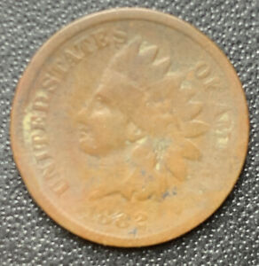 1882 INDIAN HEAD PENNY  DATE AG OR BETTER STOCK PHOTO FREE SHIP   3213