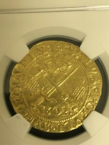 Click now to see the BUY IT NOW Price! 1602 SCOTLAND SWORD AND SCEPTRE 6 POUNDS GOLD COIN NGC XF