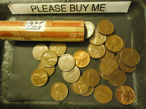 1964 P ROLL OF LINCOLN PENNIES        C/S & H