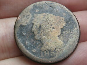 1853 BRAIDED HAIR LARGE CENT PENNY