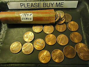 1984 P LINCOLN CENT ROLL              >> C/S & H <<
