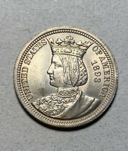 1893 ISABELLA 25C COMMEMORATIVE QUARTER BU