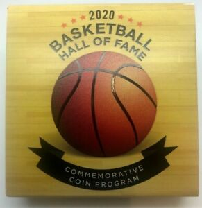 2020 PROOF SILVER DOLLAR BASKETBALL HALL FAME OGP WITH CAPSULE   NO COIN