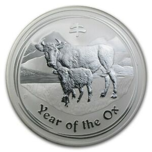 Click now to see the BUY IT NOW Price! 2 OZ 2009 PERTH LUNAR OX SILVER COIN