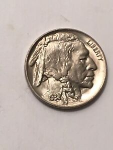 1938 D BUFFALO NICKEL TYPE 2  CHOICE UNCIRCULATED BEAUTIFUL COIN LAST YEAR ISSUE