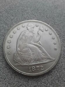 NICE 1872 SEATED LIBERTY SILVER DOLLAR