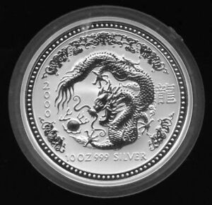 Click now to see the BUY IT NOW Price! 10 OZ 2000 PERTH LUNAR ONE DRAGON SILVER COIN