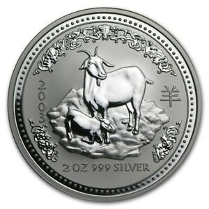 Click now to see the BUY IT NOW Price! 2 OZ 2003 PERTH LUNAR 1 GOAT SILVER COIN