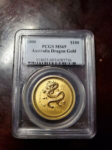Click now to see the BUY IT NOW Price! 1 OZ 2000 PERTH LUNAR DRAGON GOLD PCGS MS69