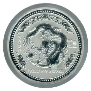 Click now to see the BUY IT NOW Price! 1 KILO KG 2000 PERTH LUNAR DRAGON SILVER COIN