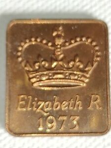 1973 ROYAL MINT PROOF YEAR MEDALLION MEDAL TOKEN   ELIZABETH II