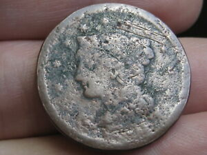 1843 1857 BRAIDED HAIR LARGE CENT PENNY  MATURE HEAD LARGE LETTERS