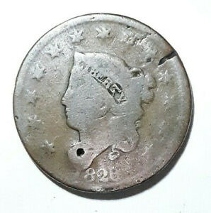 1826 LARGE CENT SMALL HOLE