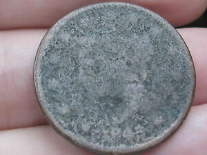 1843 BRAIDED HAIR LARGE CENT PENNY PETITE SMALL LETTERS