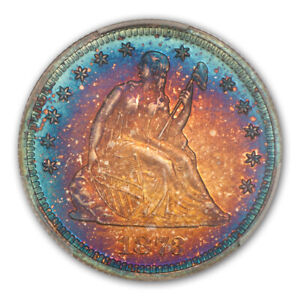 Click now to see the BUY IT NOW Price! 1873 25C NO ARROWS LIBERTY SEATED QUARTER PCGS PR68CAM